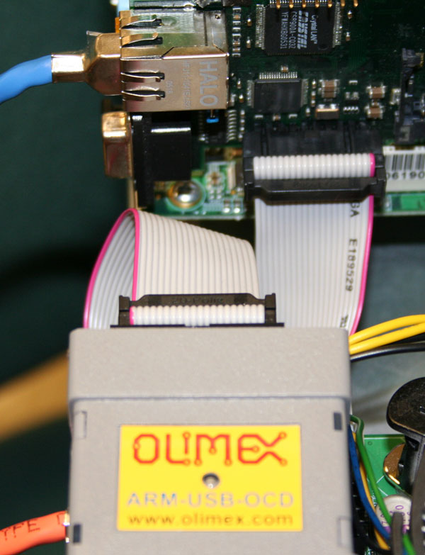 JTAG programnmer attached to CM2 board
